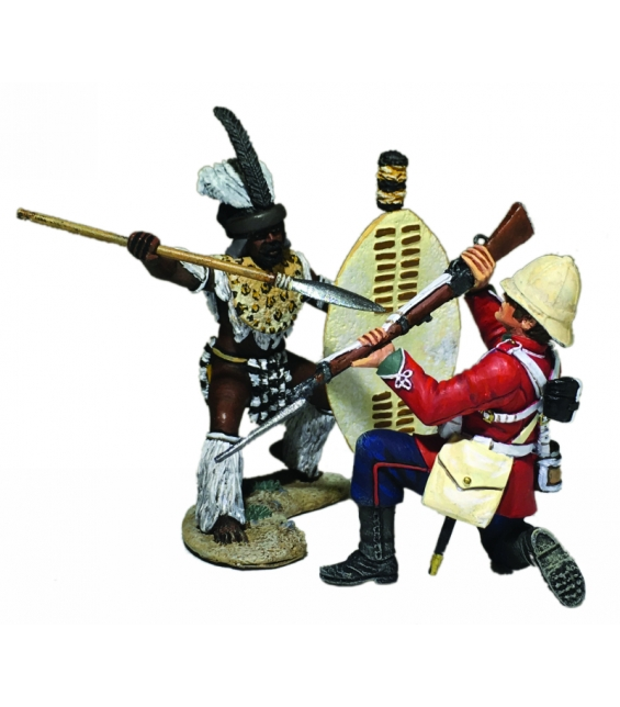 "WBritain 1/30 No You Don't Zulu & 24th Foot Hand to Hand 2 Piece Figure Set 20180<br>""No You Don't!"" - Zulu and 24th Foot Hand-to-Hand 2 Piece Set"