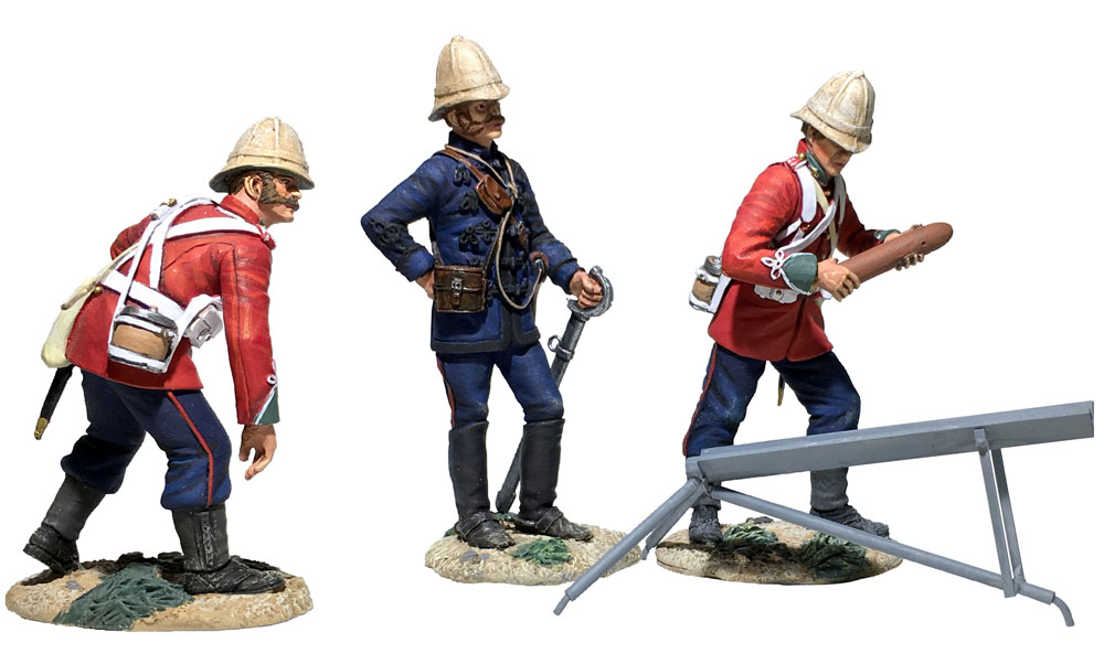 WBritain 1/30 British Hale Rocket Battery 4 piece Ltd Ed Set of 400 from Zulu Wars 20181<br>As late as 1879 British troops in Africa were still wearing their 