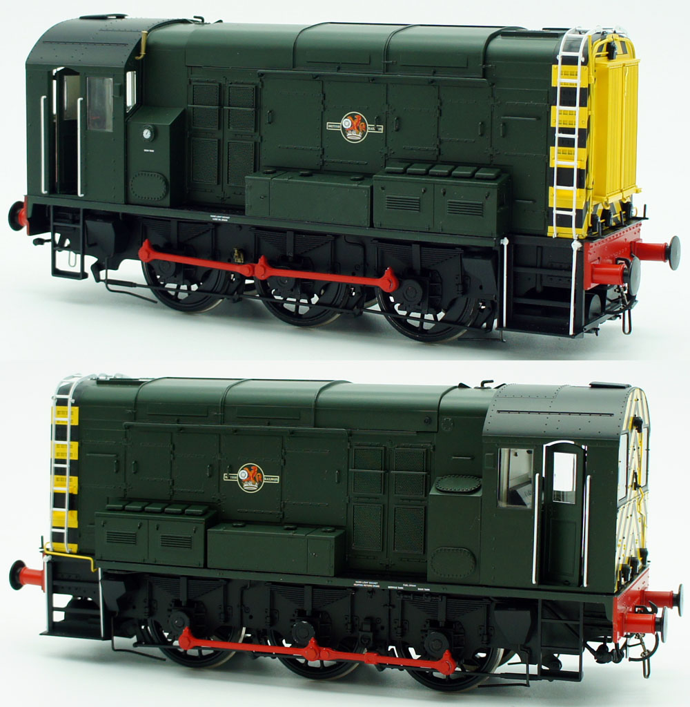 Dapol O Gauge UnNumbered BR Class 08 Shunter BR Green Late Crest with Wasp Stripes 7D-008-009U