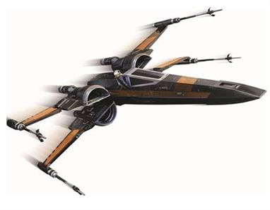 Poe's X-Wing Fighter StarshipThese beautifully crafted, die-cast  ships will appear in the new Star Wars movie coming out this December. Star Wars: The Force Awakens is the long-anticipated new installment in the Star Wars saga, directed by J.J. Abrams. The story is set nearly thirty years after Return of the Jedi, during a dangerous time of conflict between the oppressive First Order regime and the heroic Resistance.Piloted by flying ace Poe Dameron and his loyal Astromech Droid, BB-8, this uniquely color T-70 X-Wing Fighter armed with four laser cannons and two proton torpedo launchers is pivotal in the fight against the First Order.