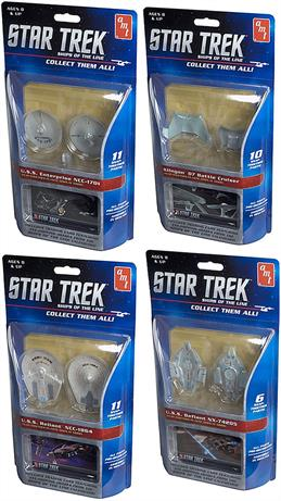 AMT/ERTL 1/350 Star Trek Ship of the Line Collectable includes Trading Card AMT914/12One of Assorted Please choose one- USS Reliant NCC-1864, USS Enterprise NCC-1701,Klingon D7 Battle Cruiser, USS Defiant NX-7420S.Snap Together Assembly