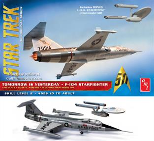 AMT/ERTL 1/48 Star Trek F-104 Starfighter AMT953Glue and paints are required