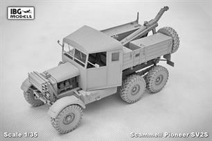 IBG Models 35029 1/35 Scale Scammell Pioneer SV/2S Heavy Breakdown TractorThe kit is supplied with clear plastic parts for glazing etc, etched brass parts for fine detailing, a wire rope for the winch, decals for various versions and full step by step instructions.Glue and paints are required