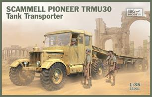 Future Release - Priced to Be Advisee for this IBG Models 1/35 Scammell Pioneer TRMU30 Tank Transporter -  Kit 35031The model has loads of detail and comprises mainly of highly detailed plastic mouldings. Some clear styrene parts are included for glazing etc. Comprehensive step by step instructions accompany the kit.