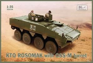 IBG Models 1/35 KTO Rosomak - Polish Armoured Personnel Carrier -  35033The model features a one piece moulded lower hull and turret. Etched brass and clear styrene items are also included. Decals and full instructions are also supplied.Glue and paints are required