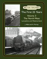 British Railways The First 25 Years Volume 3: The North West J. Allan and A. MurrayThis is the third in a series of books covering the first twenty-five years of British Railways, which will eventually cover the whole of Great Britain.This volume explores the North West of England, through the county of Lancashire to the open fells of Westmorland. Travelling mainly over former L&NWR, L&YR and Furness Railway lines, our journey begins just north of Crewe and heads north along the West Coast main line to Warrington. We visit Merseyside, Liverpool and the Docks, including the Liverpool Overhead Railway, before continuing north to Wigan. We pay a visit to the Vulcan Foundry at Newton-le-Willows, the Central Wagon Company at Ince and the sheds at Wigan, Springs Branch and Lostock Hall before negotiating the complex series of junctions leading into Preston. The countryside opens up beyond Preston and we detour west to explore the Fylde Coast and the holiday resort of Blackpool, before resuming our journey north to historic Lancaster and the famous station at Carnforth, where the old Furness Railway line branches off to serve the southern Lake District. We then visit Morecambe Bay, including the holiday resort of Morecambe and port of Heysham. The branch stations at Windermere and Kendal are recorded before we regain the main line and pass through the picturesque Lune Gorge to Tebay, finally climbing over Shap summit to complete our journey at Penrith. The atmospheric photographs cover steam, diesel and electric traction, express, freight and humble shunting engines. Everything from 'Coronations', 'Royal Scots' and 'Jubilees' to the now long-forgotten electric units on the Lancaster to Morecambe and Heysham line. There is extensive coverage of freight working, including the rarely photographed lines around St. Helens, finishing off with a study of the final year of steam operation around Carnforth. There is a mix of action and depot pictures, as well as plenty of unusual and 'quirky' shots, backed up by extensive and informative captions – all in all a perfect companion to the previous volumes in the series.240 pages. 275x215mm. Printed on gloss art paper, casebound with printed board covers.