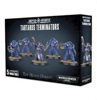 This multi-part plastic kit contains the parts necessary to assemble 5 Tartaros Terminators, ready to be added to any Space Marines or Chaos Space Marines collection.This kit can be used as a standard Terminator Squad in games of Warhammer 40,000, and is supplied with 5 Citadel 40mm Round bases.