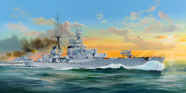Trumpeter 1/350 Italian Heavy Cruiser Zara Model Kit 05347