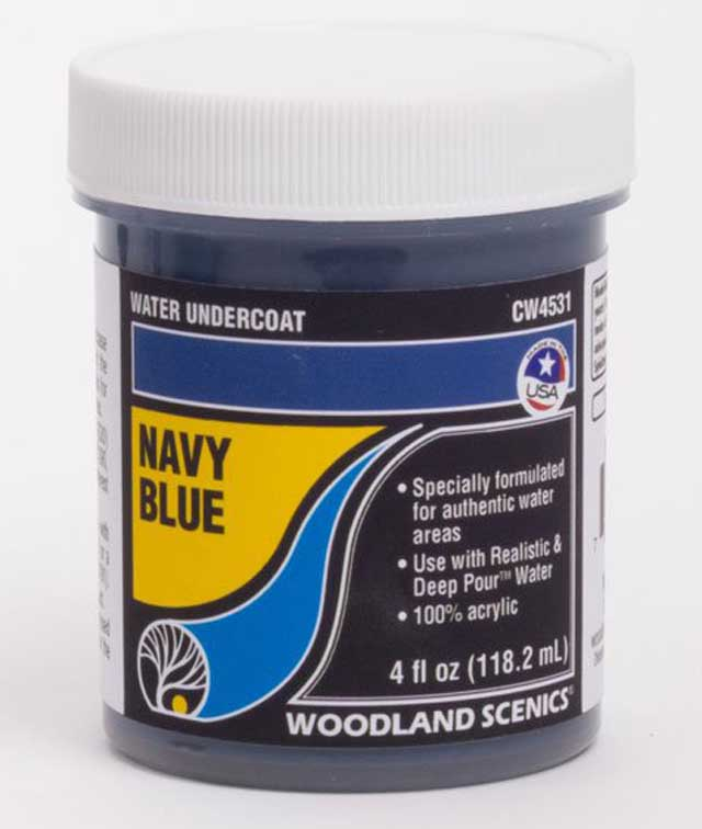 <P><B>Woodland Scenics CW4531 Water Undercoat - Navy Blue</B></P>