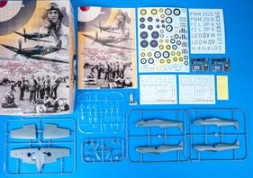 Limited edition kit of british WWII aircraft Spitifre Mk.I in 1/48 scale.Focused on machines from introduction into service to the end of Battle of the Britain.plastic parts: Eduardmarking options: 10decals: EduardPE parts: yes, pre-paintedpainting mask: yesresin parts: yes, figurine of Douglas Bader