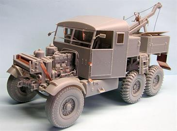 The kit includes over 450 plastic parts including a faithfully reproduced and highly detailed chassis, winch and jig crane, accurately molded engine, cab and interior with correctly sized details and shape. Plastic moulded tyres are included with the correct tread pattern as documented in period photos. Included is a photo etched detail sheet, scale chains and ropes and comprehensive instructions.