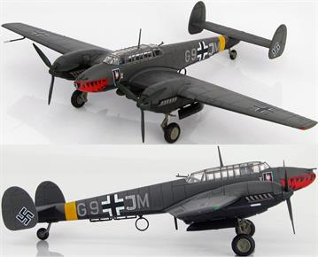 "Hobbymaster 1/72 BF 110E-2 ""Operation Donnerkuil"" G9+JM, 4./N.JG1, St Trond, France, Feb., 1942 HA1813"