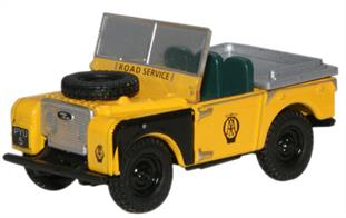 "Oxford Diecast 1/76 Land Rover Series 1 80"" Open Top AA 76LAN180003"
