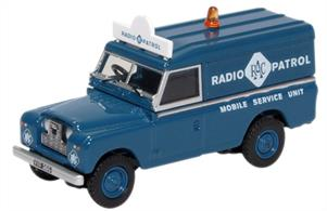 Oxford Diecast 1/76 Land Rover Series II LWB Hard Top RAC Radio Patrol 76LAN2017