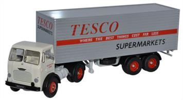 Oxford Diecast 1/76 Leyland Octopus Box Trailer Tesco 76LO001