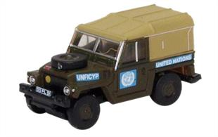 Oxford Diecast 1/148 Land Rover Lightweight United Nations NLRL001