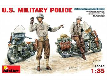 Mini Art 35085 US Military Police with Motorcycle