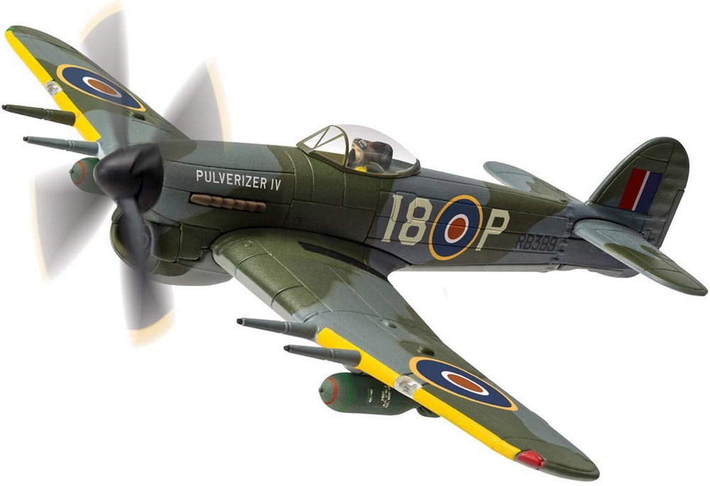 "Corgi AA36510 1/72 Scale Hawker Typhoon lB RB389/I8-P ""Pulverizer IV"", No.440 Squadron RCAF ""City of Ottawa""<br>Wingspan 174mm"