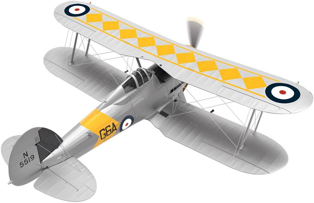 Corgi AA36211 1/72 Scale Gloster Sea Gladiator N5519/G6A, No,802 Naval Air Squadron, HMS Glorious, June 1939<<br>Wingspan 135mm