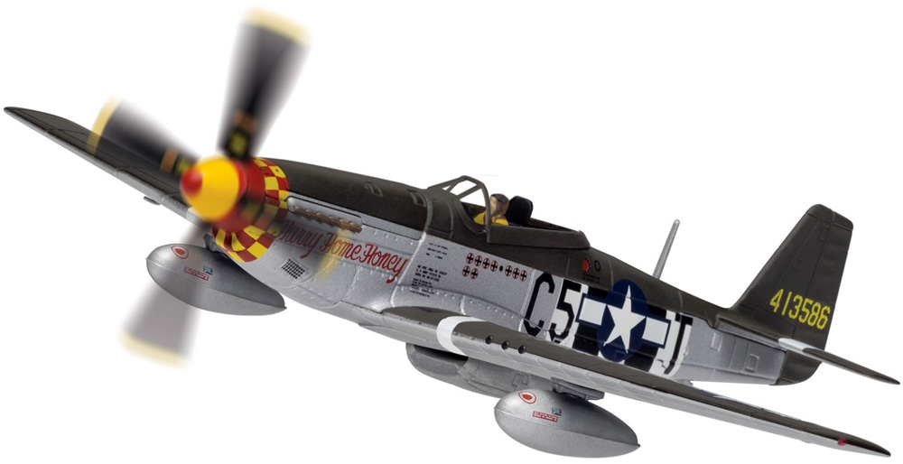 Corgi AA27705 1/72 Scale North American P-51D Mustang 44-13586/C5-T Hurry Home Honey Capt. Richard A Pete Peterson, 364th Fighter Squadron, 357th Fighter Group, RAF Leiston, Suffolk -  July 1944<br>Wingspan 155mm