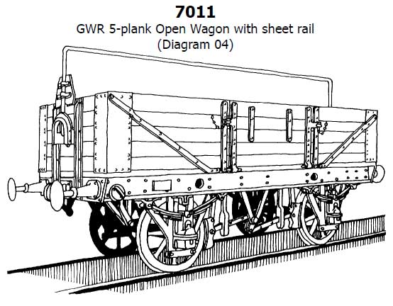 slaters plastikard gwr diagram o4 5 plank open mechandise wagon kit with sheet rail o gauge 7011