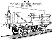 <p>slaters gwr diagram o4 5 plank open merchandise wagon plastic kit  gwr
