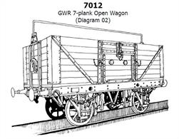 Slaters GWR diagram O2 / O10 7 plank open merchandise wagon plastic kit. GWR 16ft length underframe. Taller 7 plank open wagons offered a greater internal volume for loads, the addition of a sheet support rail providing weather protection. 1,550 wagons built, in unfitted (O2) and vacuum braked (O10) versions.