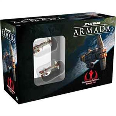 Brace for impact with the Hammerhead Corvettes Expansion Pack for Star Wars™: Armada! Named for its distinctive silhouette, the Hammerhead corvette is officially classed as a transport, but features combat-worthy engines, hull, and armament. Often fielded in groups by the Rebellion, Hammerheads lend themselves to formation tactics with their agility and responsiveness. You'll be able to explore some of these formation tactics with the expansion's two pre-painted Hammerhead miniatures, and you'll find them supported by two ship cards, as well as a full complement of fourteen upgrade cards heavily focused on close-range combat!This is not a complete game experience. A copy of the Star Wars: Armada Core Set is required to play.
