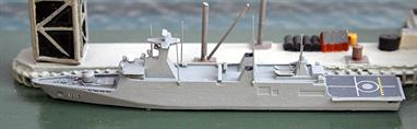 A 1/1250 scale metal model of the Moroccan Sigma 9813 corvette or light frigate of 2011 onwards.