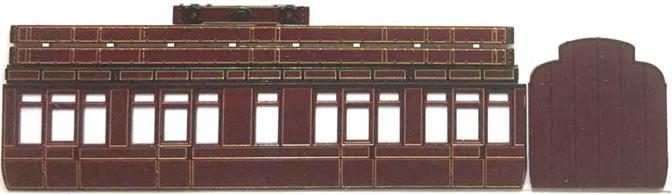 Now supplied with pre-painted and lined sides in Midland Railway crimson lake livery this kit builds a detailed model of a MR 6-wheel third class coach with clerestory roof and toilet to diagram 492. 'Lavatory Stock' with toilets fitted in between the compartments was introduced for long-distance trains before the introduction of corridor stock. This ensures that some passengers travelling for many hours on the train had access to the lavatory, however often one had to chose the right compartment!Supplied with metal wheels, screw couplings and sprung buffers