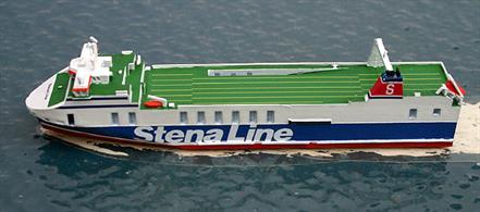 A 1/1250 scale metal model of Stena Precision. Currently, the ship is on the Liverpool to Dublin route.