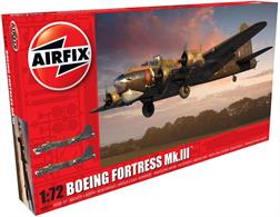 Airfix 1/72 RAF Boeing Fortress MK3 WW2 British Bomber Kit A08018Number of Parts 245   Length 320mm  Wingspan 438mm
