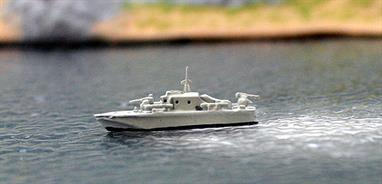 A 1/1250 scale model of the British Brave class high speed gunboat Strahl by Albatros SM Alk 234