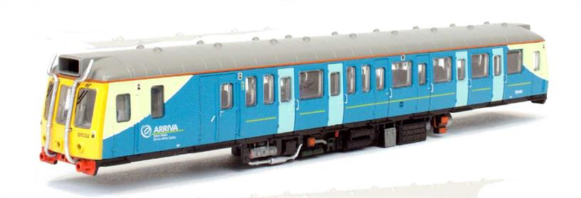 Dapol N Gauge 2D-009-004 Arriva Trains Wales Pressed Steel built Class 121 Single Car DMU 121032 / 55032 Arriva Trains Wales Blue LiveryClass 121 car 55032 running as unit 121032 worked the Cardiff Queen Street to Cardiff Bay (Bute Road) shuttle service, serving the redeveloping Cardiff dockside area.