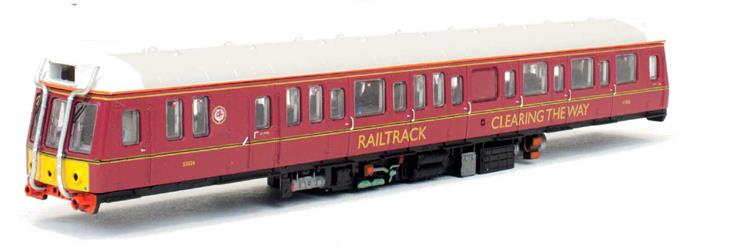 Dapol N Gauge 2D-009-006 Railtrack Pressed Steel built Class 121 Single Car DMU 977858 Railtrack Maroon LiveryAnnounced October 2017, delivery to be advised.A number of the single car units were adopted by British Rails' engineering departments following withdraw from traffic service. One of these numbered 977858 was operated by Railtrack in these roles painted in a maroon livery similar to the British Railways passenger livery of the 1960s.