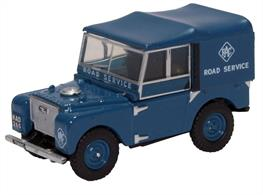 "Oxford Diecast 1/76 Land Rover Series 1 80"" Hard Top RAC 76LAN180006"