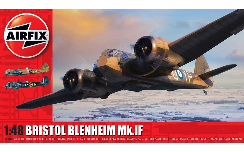 Airfix Bristol Blenheim Mk.IF Fighter Aircraft Plastic Kit 1/48 A09186
