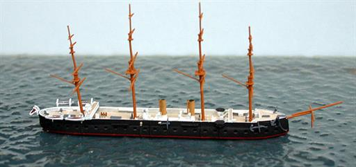 Spidernavy SN 0-17 HMS Achilles a broadside ironclad from 1863 1/1250