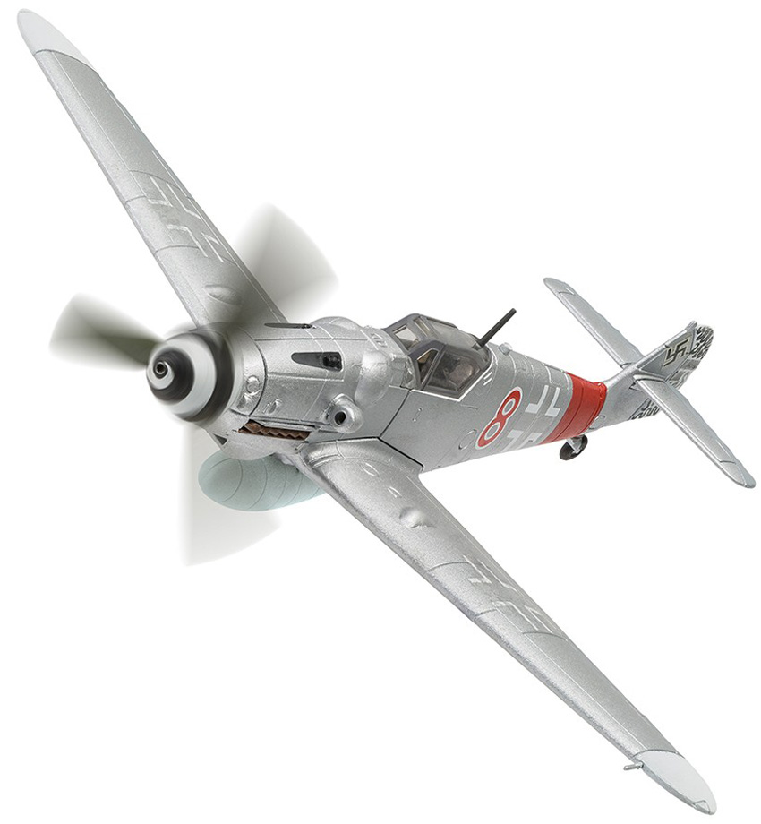 "Corgi Aviation Archive model AA27107<br><span class=""yui-non"">A detailed 1:72 scale model of the </span>Messerschmitt BF109G-6 finished Reg 8 of JG300 flown by Kurt Gabler.<br><span class=""yui-non"">2018 Range</span>"