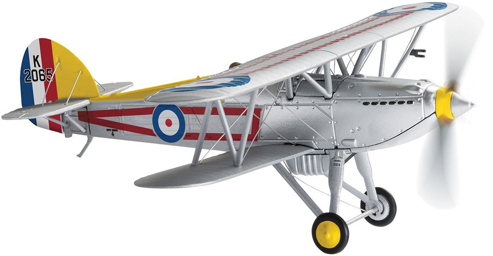 "Corgi Hawker Fury K2065 1 Squadron RAF Tangmere C Flight Ldr's Aircraft - 100 Years of the RAF AA27304<br><span class=""yui-non"">2018 Range</span>"