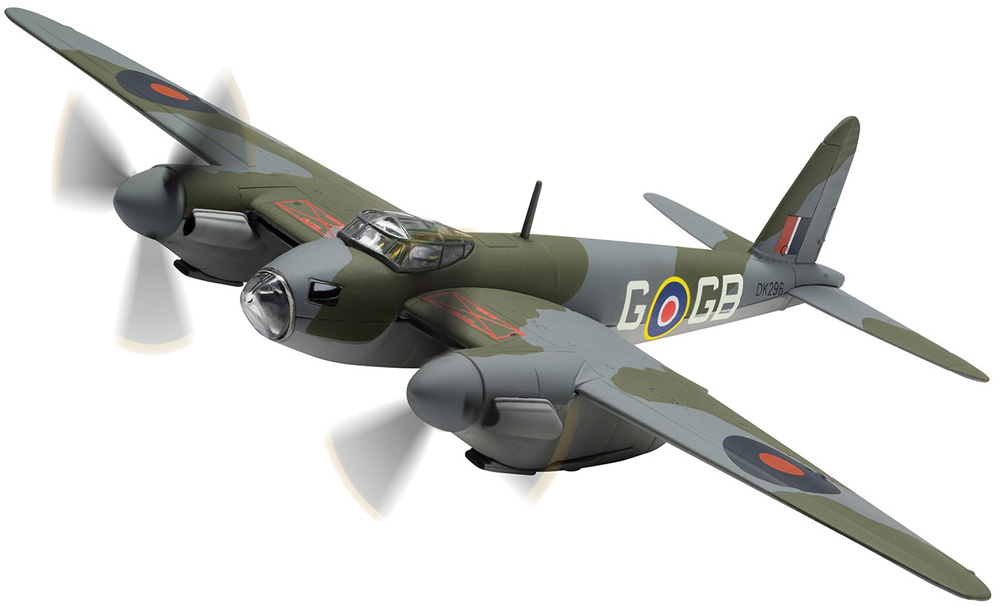 "Corgi D.H Mosquito B.IV DK296 105 Squadron Flt. Lt. D A G George Parry June 1942 - 100 Years of the RAF<br><span class=""yui-non"">2018 Range</span>"