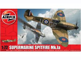 Airfix A01071B 1/72nd Spitfire Mk1 World War 2 Fighter Aircraft Kit Number of parts 36  Length 127mm   Wingspan 156mm.