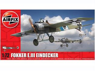 Airfix A01087 1/72nd Fokker E.III Eindecker World War 1 Fighter Kit Number of Parts 35 Length 100mm Wingspan 140mm