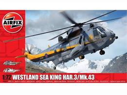 Airfix A04063 1/72nd Westland Sea King HAR.3 Helicopter KitNumber of Parts 135  Length 307mm Rotorspan 263mm