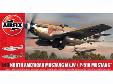 Airfix A05137 1/48th North American Mustang Mk.IV Fighter Aircraft KitNumber of Parts 147  Model Length 205mm Wingspan 236mm