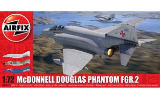 Airfix 1/72 McDonnell Douglas Phantom FGR2 Fighter Aircraft Kit A06017Number of Parts 160  Length 247mm Wingspan 162mm