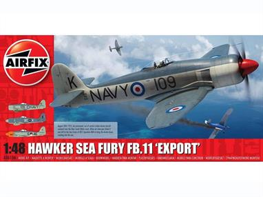 Airfix A06106 1/48th Hawker Sea Fury FB.11 Export Edition Fighter Aircraft KitNumber of Parts 122  Length 231mm Wingspan 244mm