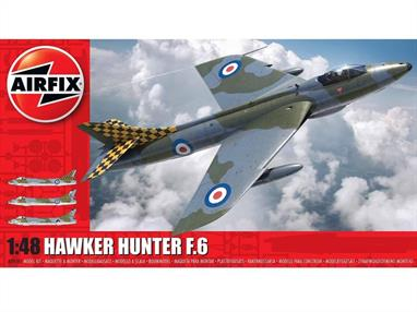 Airfix A09185 1/48th Hawker Hunter F6 Fighter Aircraft Kit