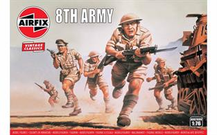Airfix 1/72 WWII British 8th Army Plastic Figures A00709Number of Figures 48