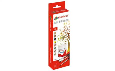 Humbrol Acrylic Landscape Paint and Brush Set AB9061